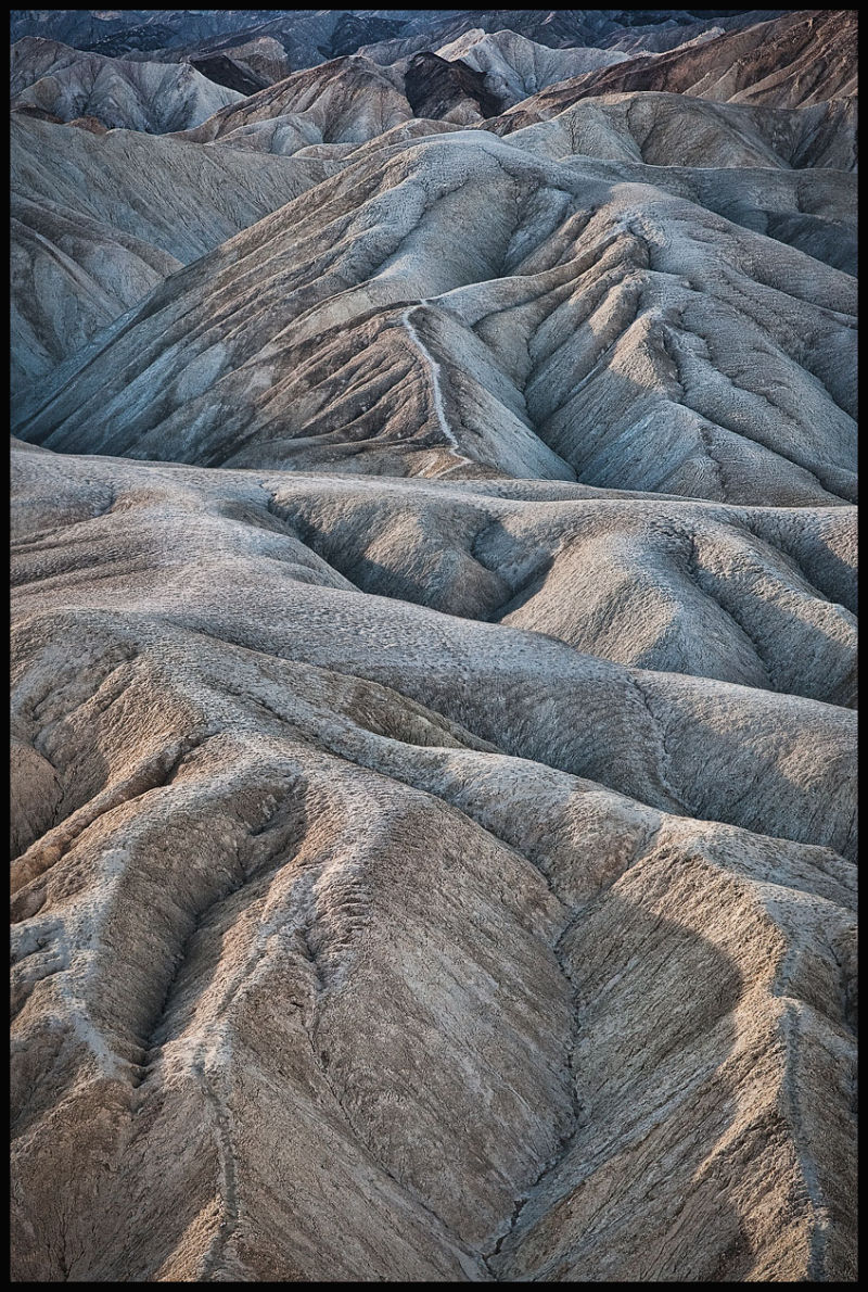 rock formation in Death Valley