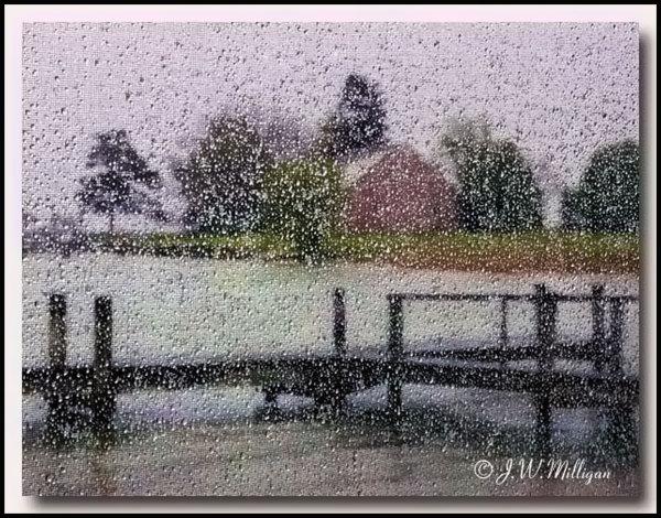Tilghman Island on a rainy day