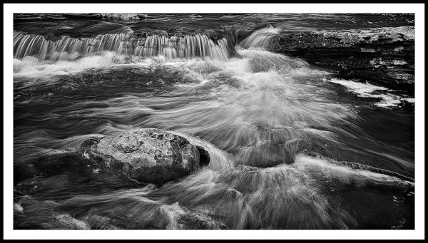 fast moving water in a rocky stream