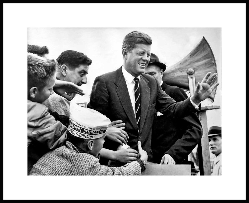 JFK campaigns for presidency