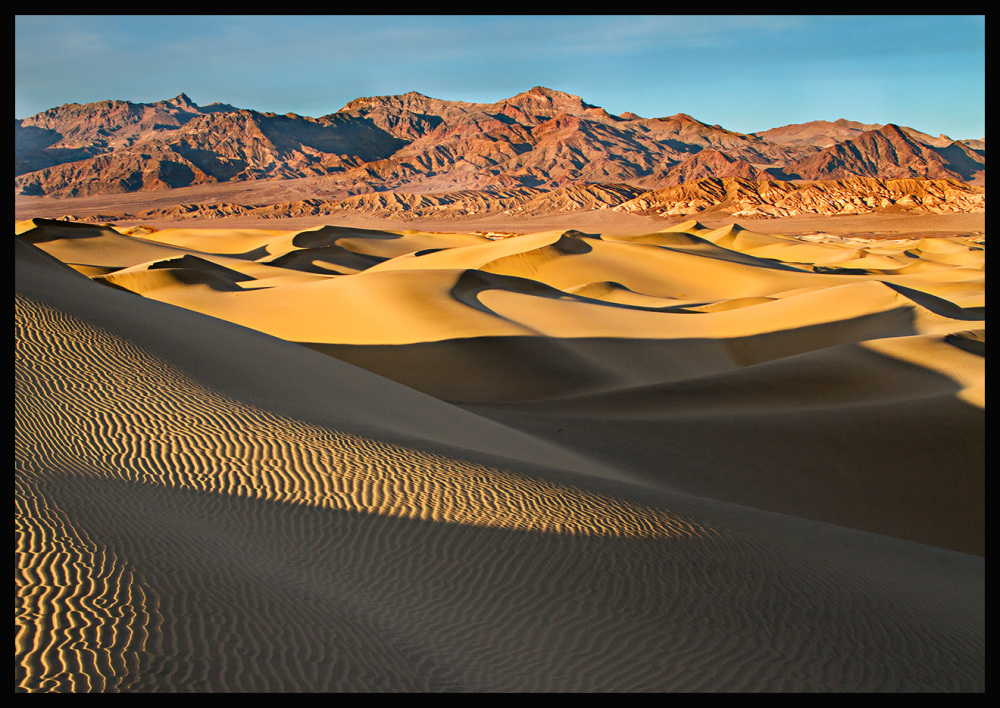 dunes,sunset,death valley, mesquite dunes