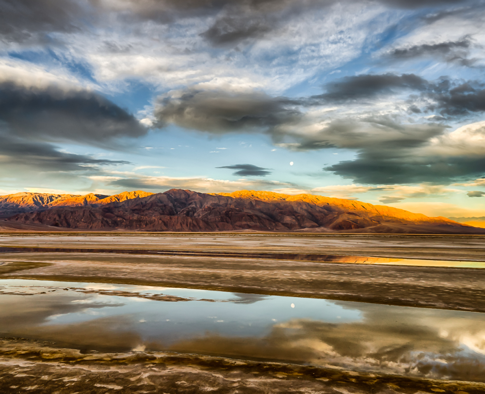 Sunrise and reflections in Death Valley