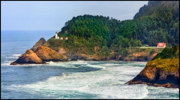 Lighthouse on Oregon Coast