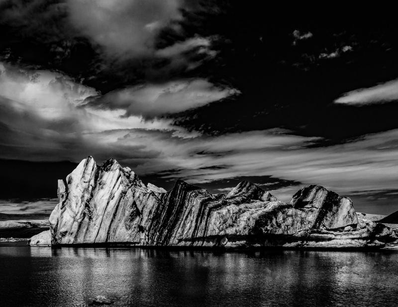 Drifting Iceberg in Iceland