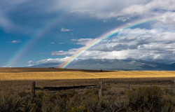 Rainbow forms outside Taos NM
