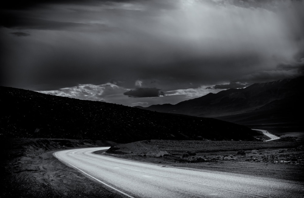 storm clouds over Death Valley