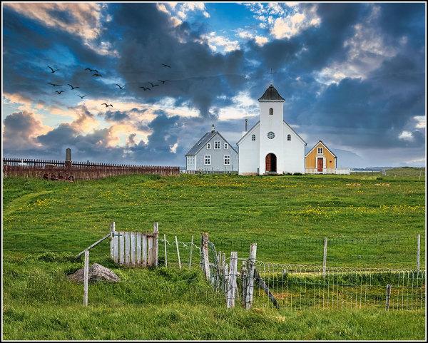 local church on an island- Iceland