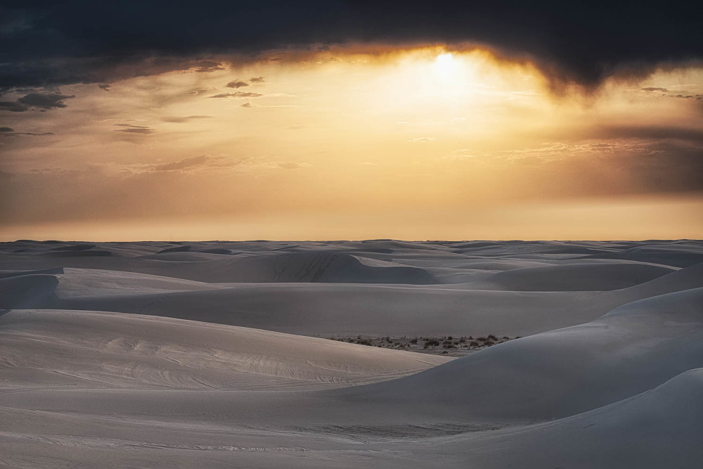 White Sands ,NM at sunset