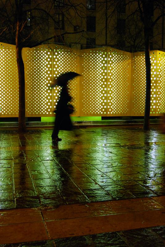 Il pleut sur la ville