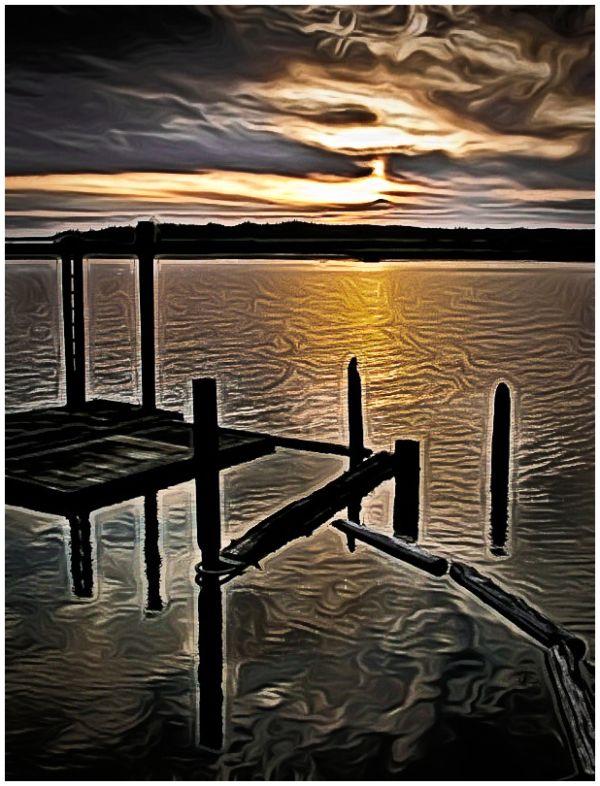 Nehalem River Sunset