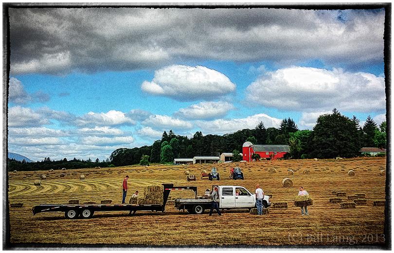 Baling Hay, near Corvallis, OR