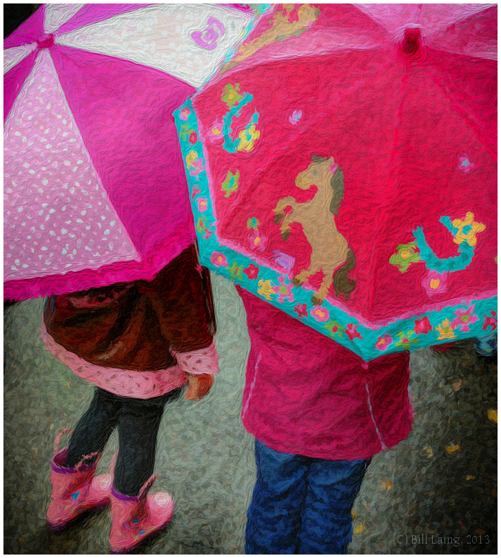 Little Girls with Little Umbrellas