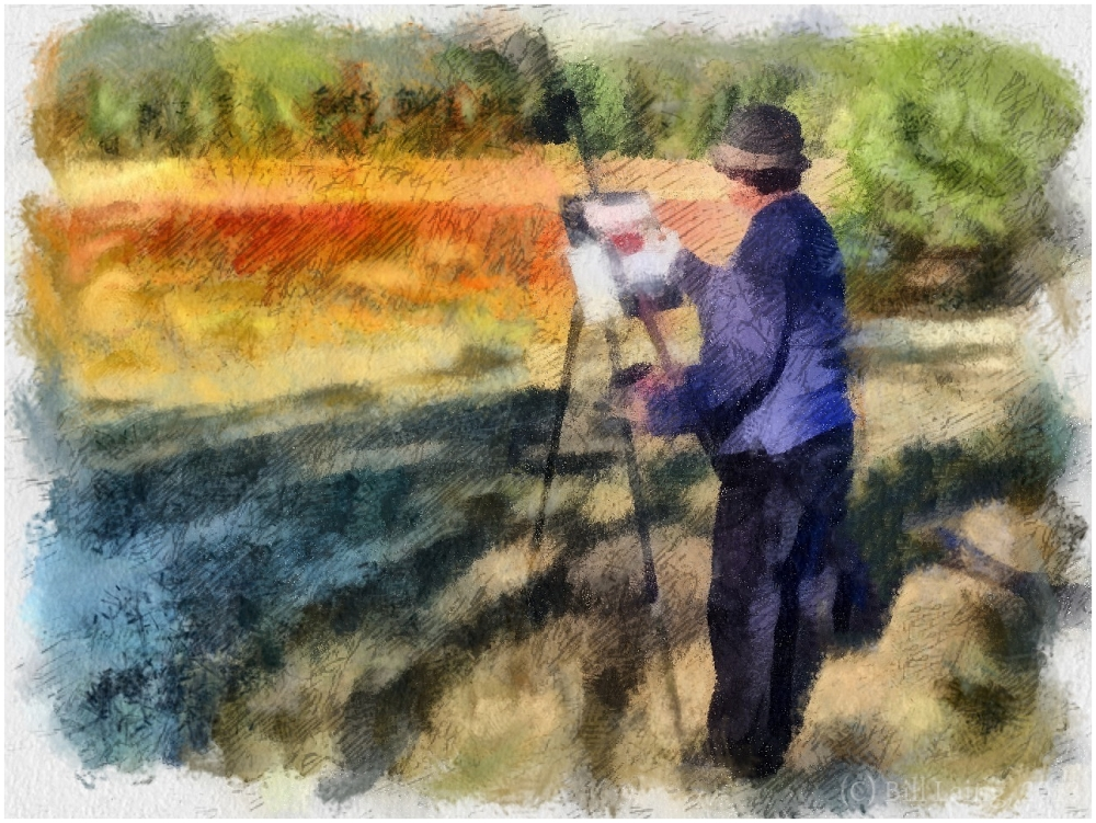 Painter, Cranberry Bog, Bandon, Oregon