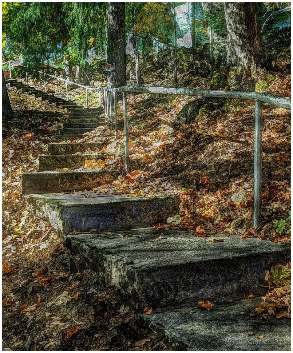 Stairway, Caribou Camp, Feather River, California