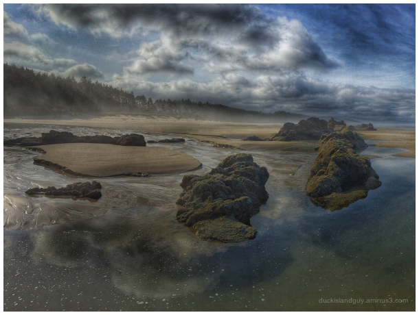 Low tide image from central Oregon coast