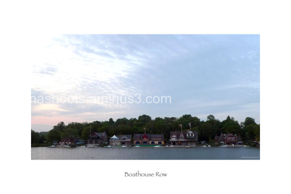 Boathouse row in philadelphia at dusk