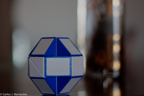 Blue Rubik's Snake