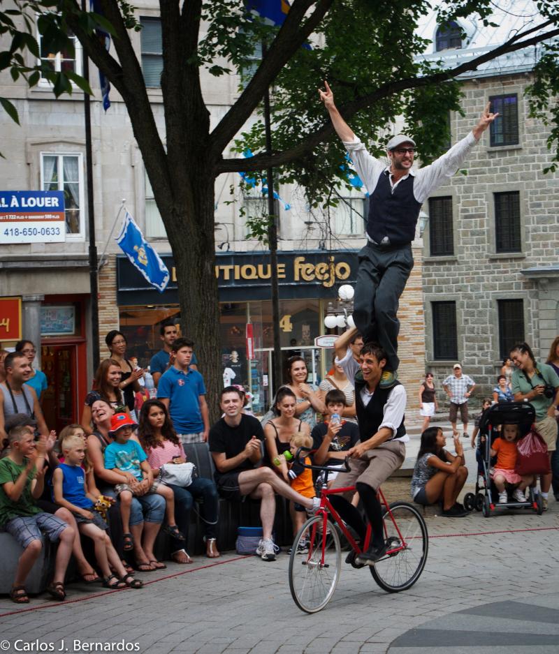 Street artists at Quebec City