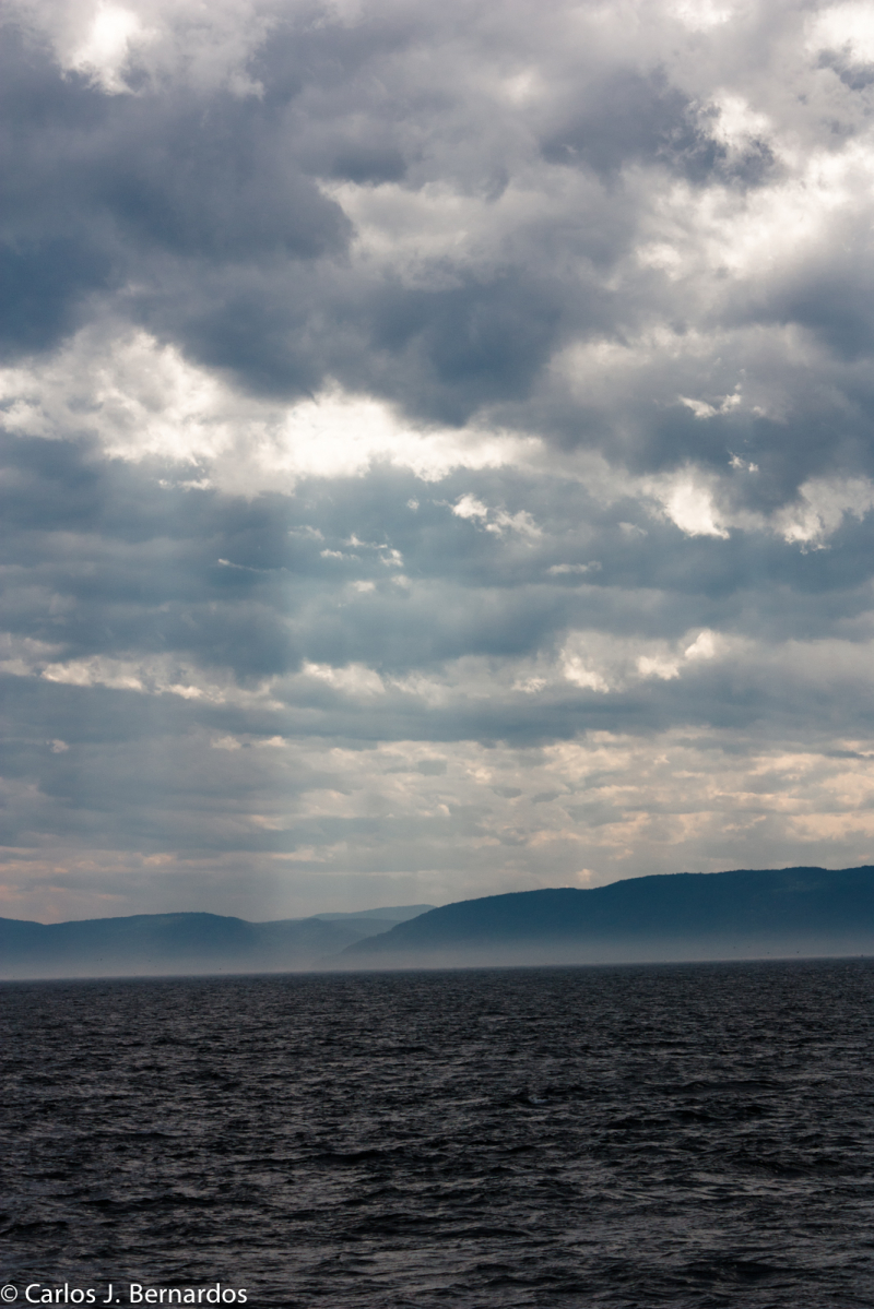 Sea and cloudy sky at the Riviere du Loup