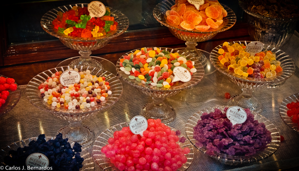 Sweets of a shop at Florence