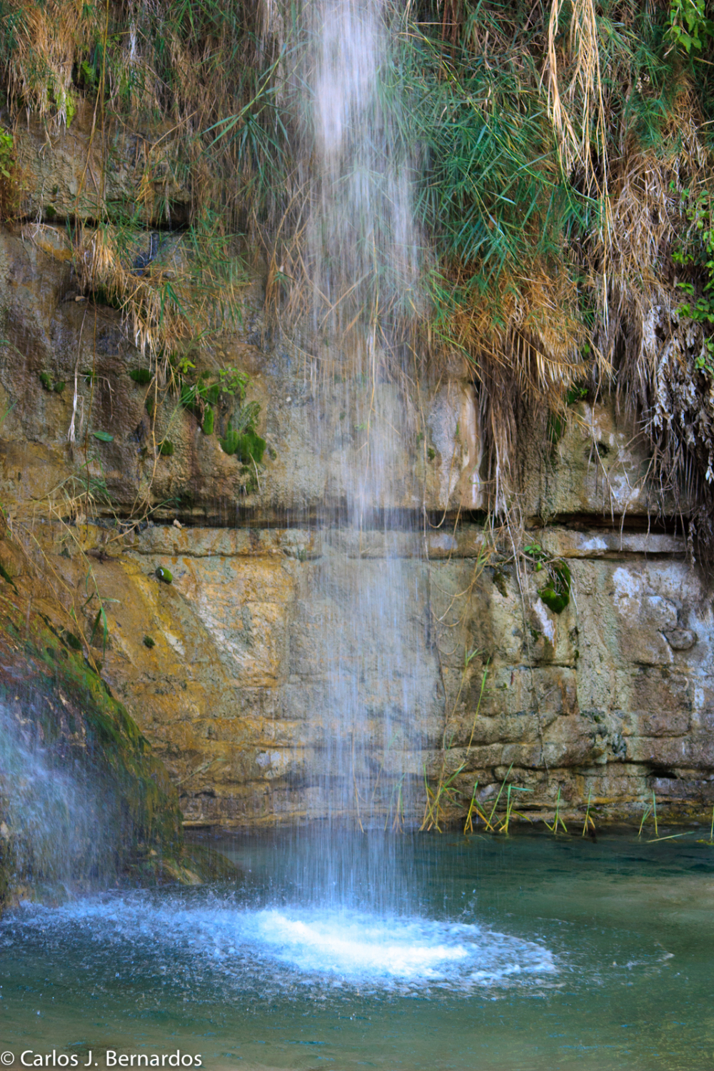 Israel natural park waterfall