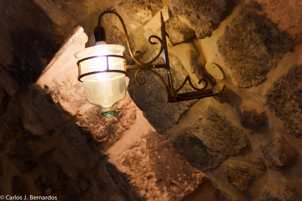 Jerusalem, Israel: light bottle