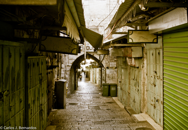 Jerusalem (Israel): empty alley