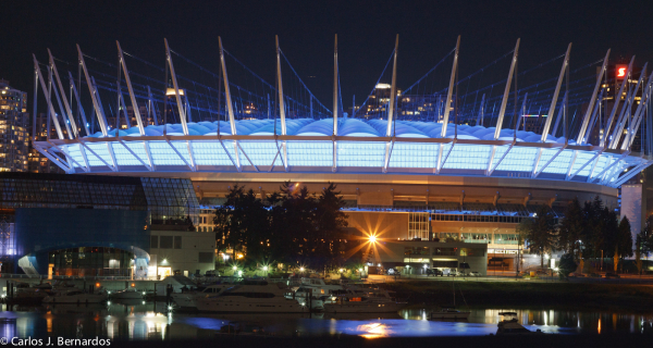 Vancouver dome at night