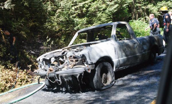 Vancouver: burned car