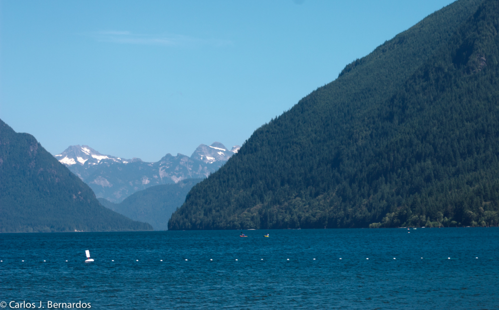 Vancouver lake in the mountains