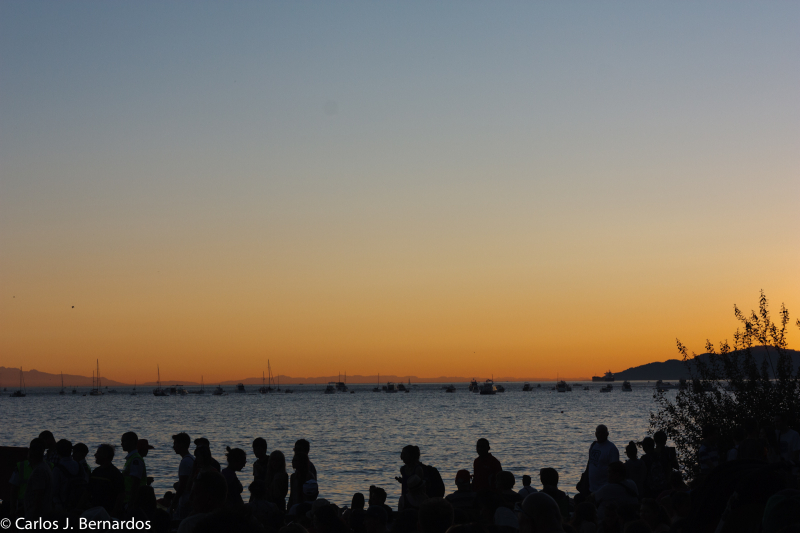 Vancouver beach at dusk