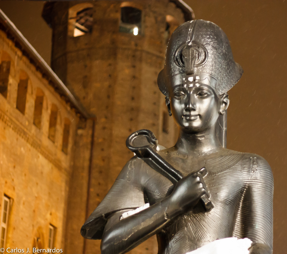 Torino sculpture at night