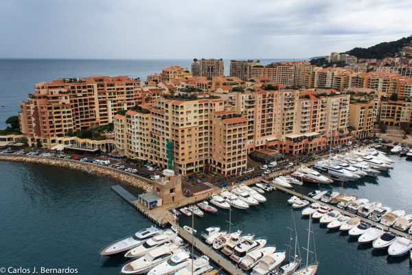 Montecarlo port high view