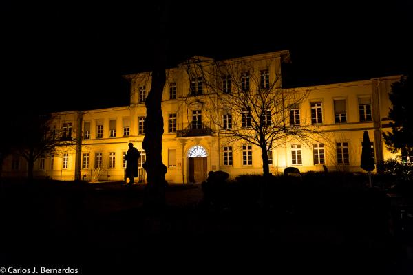 Heidelberg streets at night