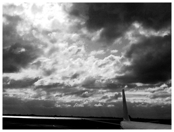 Clouds over the runway