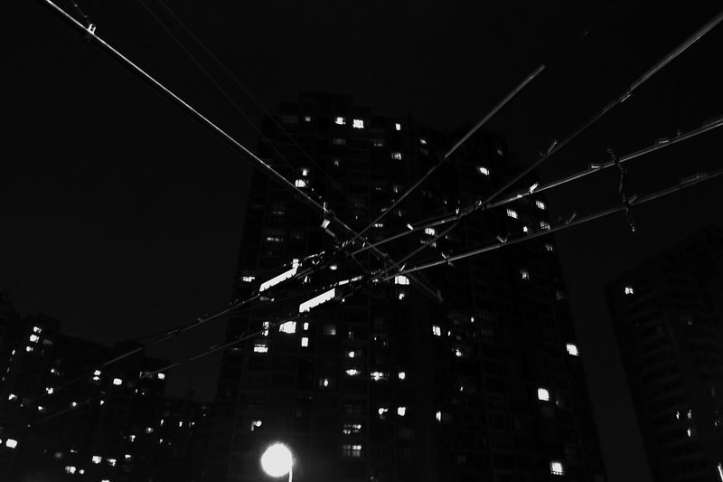 Lights and trolley wires