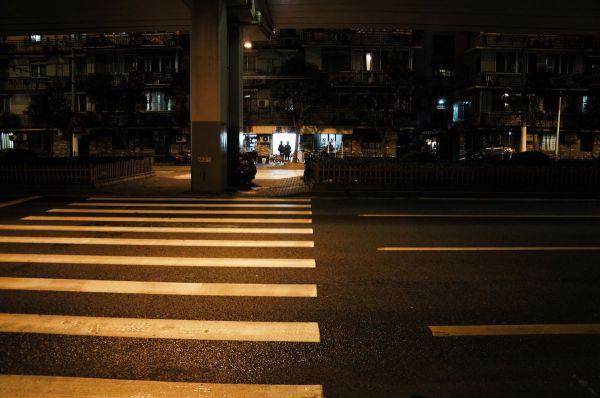 an ordinary shanghai night scene