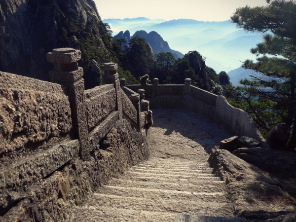 Huangshan Mountain, and Monkeys