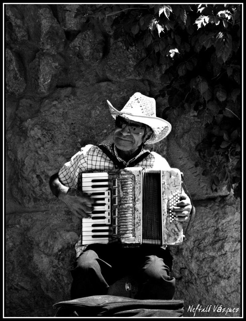 Músico en el Parque Güell