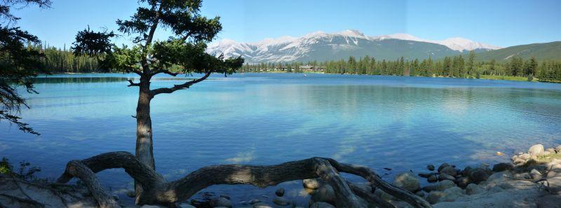 Lake Beauvert, Jasper, Alberta, Canada.