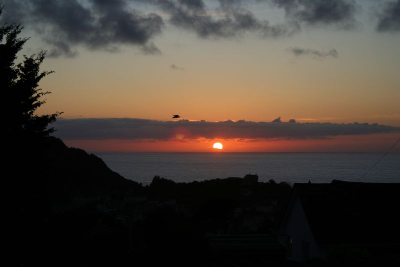 Sunset over Ilfracombe, North Devon.