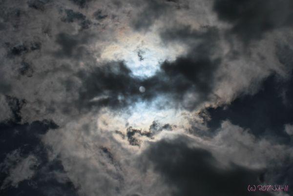 Gros plan de nuages