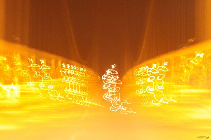 éclairage de pont flou