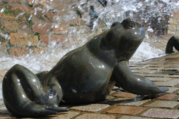 sculpture de grenouille