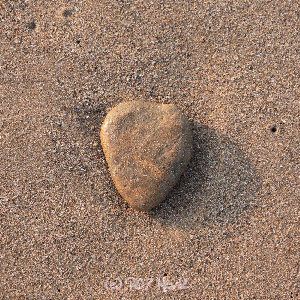 Galet en forme de cœur