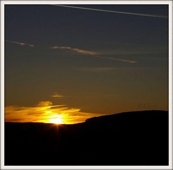 ...le soleil couchant...