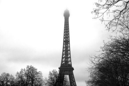 My first every sighting of the Eiffel Tower