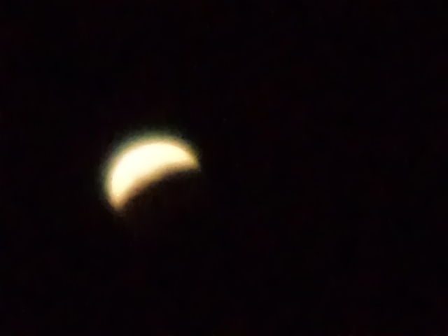Eclips in lisbon sky