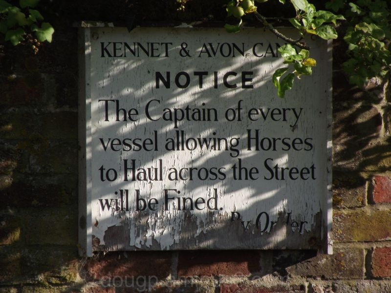 Canal sign