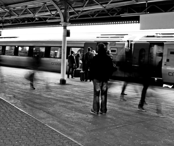 Ghosts on the platform